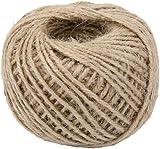 50M Wrap Gift Hemp Rope Ribbon Twine Rope Cord String Ball Natural
