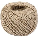 50m Corde de Chanvre Ficelle Cordon pour Emballage Cadeau Artisanat DIY Couleur Naturelle