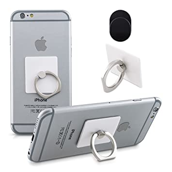 kwmobile Anillo Soporte para móvil - Anillo para Sujetar Smartphone - Sostenedor para teléfono Celular -