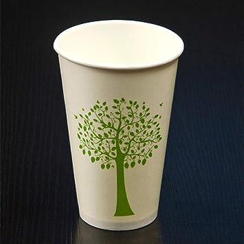 Vasos de Papel desechables50pcs 350ml Blanco Tazas ...