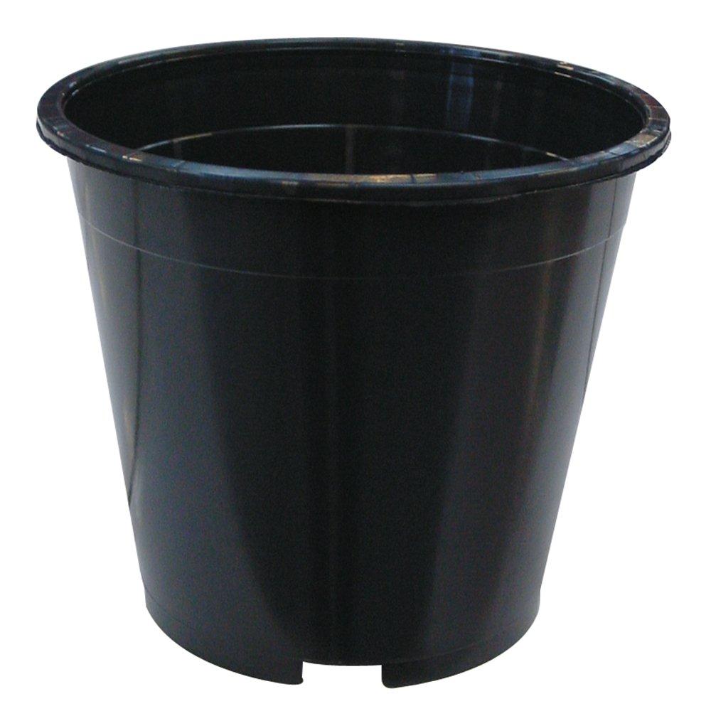Plant It 01-010-073 7.5 Litre Round Plastic Pot - Black