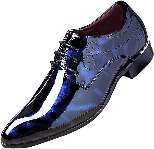 Amazon.com: Hombres Moda Vestido business zapato punta ...