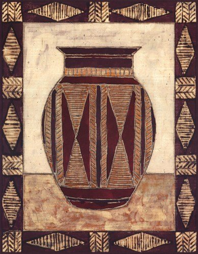 (Tribal Urn I by Elizabeth David - 11x14 Inches - Art Print Poster)