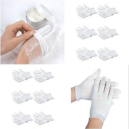 Guantes dermatológicos de algodón para – fabricado con 100% no alérgica algodón: Amazon.es: Belleza
