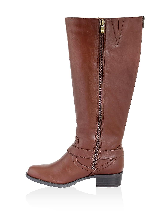 Intaglia Nevada Wide Calf Women US 7.5 Brown Knee High Boot