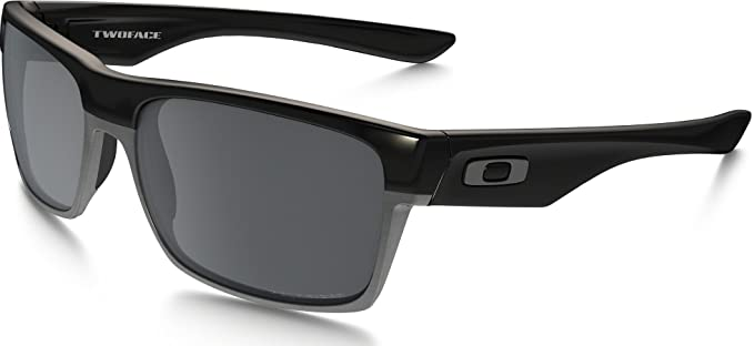 Oakley TwoFace Sunglasses Polished Black/Black Iridium, One ...