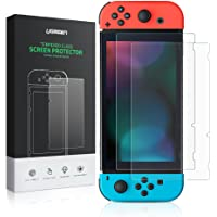 UGREEN Screen Protector 2 Pack for Nintendo Switch 2017 screen case Tempered Glass Screen Saver Protector Film Transparent HD Clear and Anti-Scratch