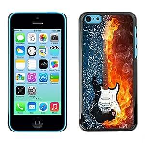 Be Good Phone Accessory // Dura Cáscara cubierta Protectora Caso Carcasa Funda de Protección para Apple Iphone 5C // Water and fire guitar