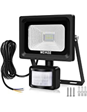 MEIKEE Security Lights with Motion Sensor, 10w Led Sensor Outdoor Light, IP66 Waterproof Security Lighting, High Output 1000lm, Super Bright LED PIR Floodlight for Garden, Car Park, Daylight White