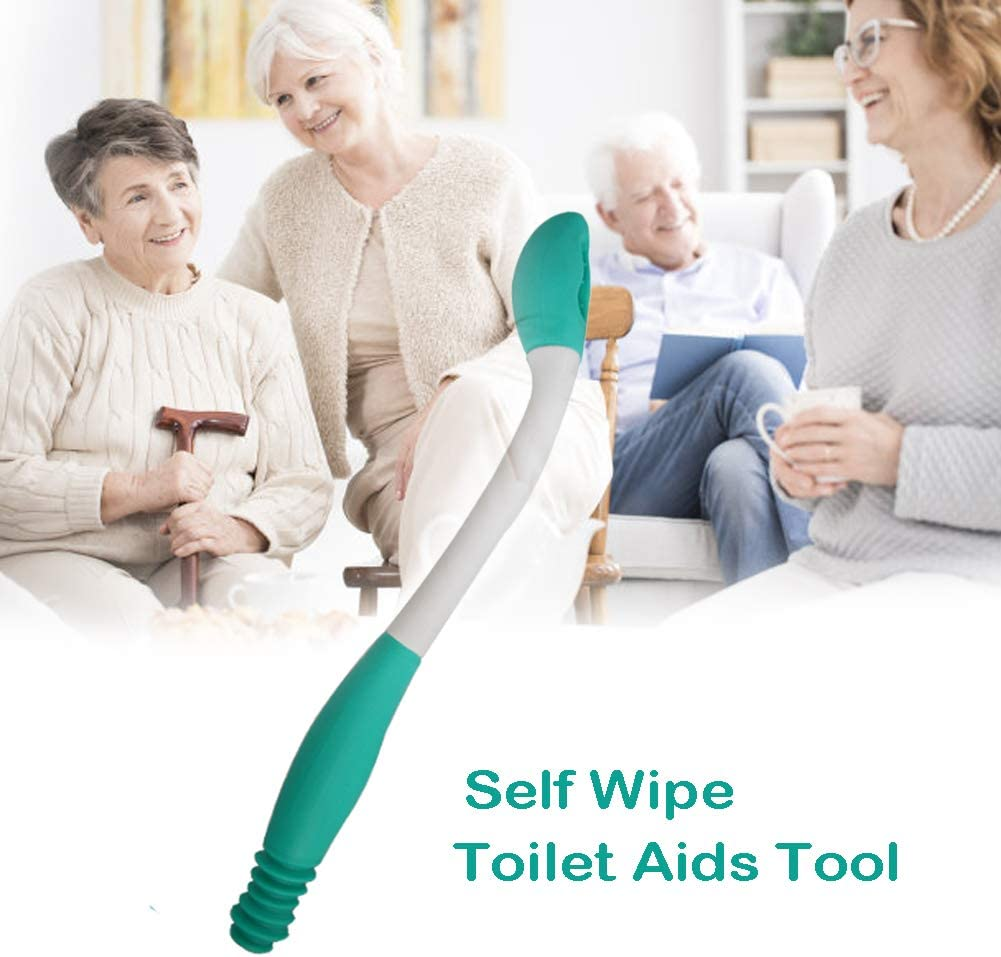 Toilet Aid Wiper Self Assist Bathroom Bottom Butt Wipe Helper Wand Long Reach Comfort Wipe Tool Paper Tissue for Pregnant After Surgery Seniors Arm Handicap Bariatric: Health & Personal Care