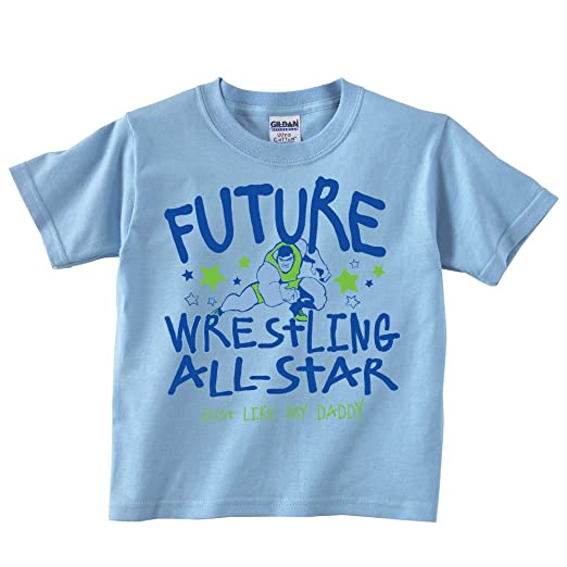 7767e66d Image Unavailable. Image not available for. Color: Future All-Star-Wrestling  Just Like My Daddy-T-shirt
