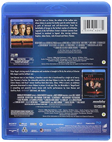 Legends of the Fall / Les Miserables (1998) - Set [Blu-ray]
