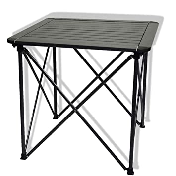 Allibuy-Outdoors Mesa al Aire Libre Mesa Plegable de Aluminio Mesa ...