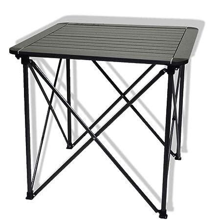 Fengbingl-hm Mesa Plegable Exterior Mesa Plegable de Aluminio Mesa ...