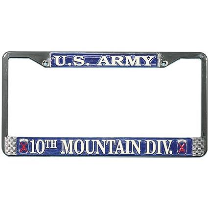 Amazon.com: 10th Mountain Division License Plate Frame: Automotive