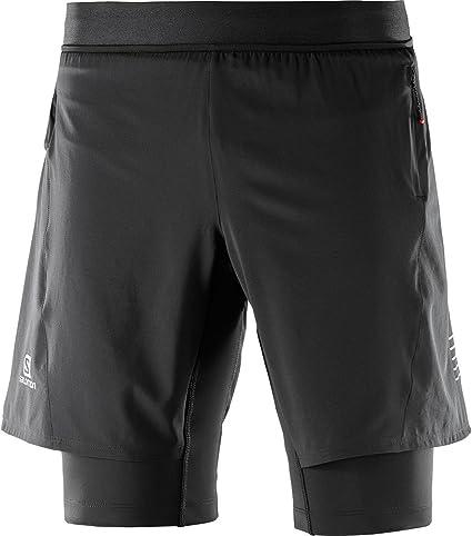 SALOMON Fast Wing TWINSKIN Short M - Pantalón Corto, Hombre, Negro(Black): Amazon.es: Deportes y aire libre
