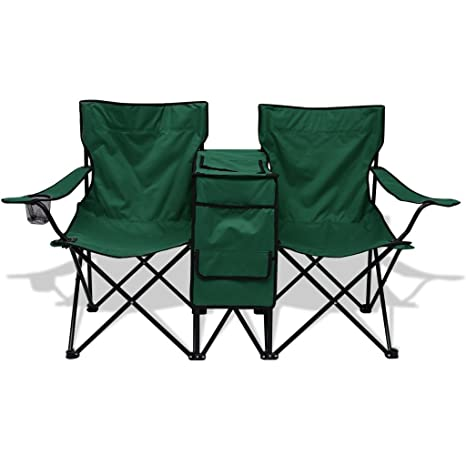 Enjoyable Anself Double Folding Camping Chair Outdoor Fishing Seat Pabps2019 Chair Design Images Pabps2019Com