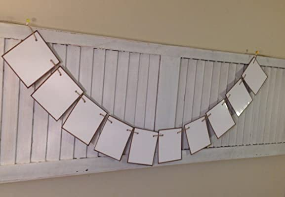 Dry Erase Board Cards Banner Write On Wipe Off Write Your Own Message Garland Bunting Make Your Sign