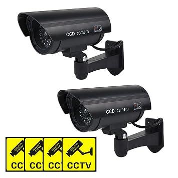 Dummy CCTV Cámara Falsa, Forma de Bala al Aire Libre Interior Falsa Dummy Imitación CCTV