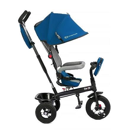 KinderKraft Niño Fuerza Swift 6 in1 Triciclo para niños con Accesorios en 2 Colores (Azul)