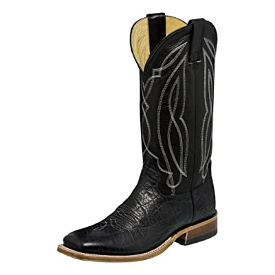 Tony Lama Boot Company Mens Flat Black Cow w/Black Ranch Top Boots: Sports & Outdoors
