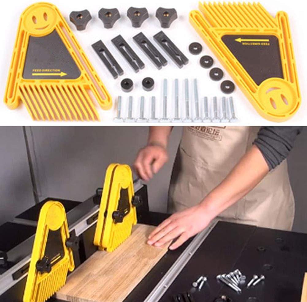 Double Plumes Jaune Almabner Planche /à Plumes Multifonction pour Bricolage Outil de Travail du Bois Table de sciage Taille Unique Scie Circulaire /électrique