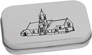 Azeeda 80mm 'Edificio della Chiesa' Contenitore Tin / Scatola di Latta (TT00078228)