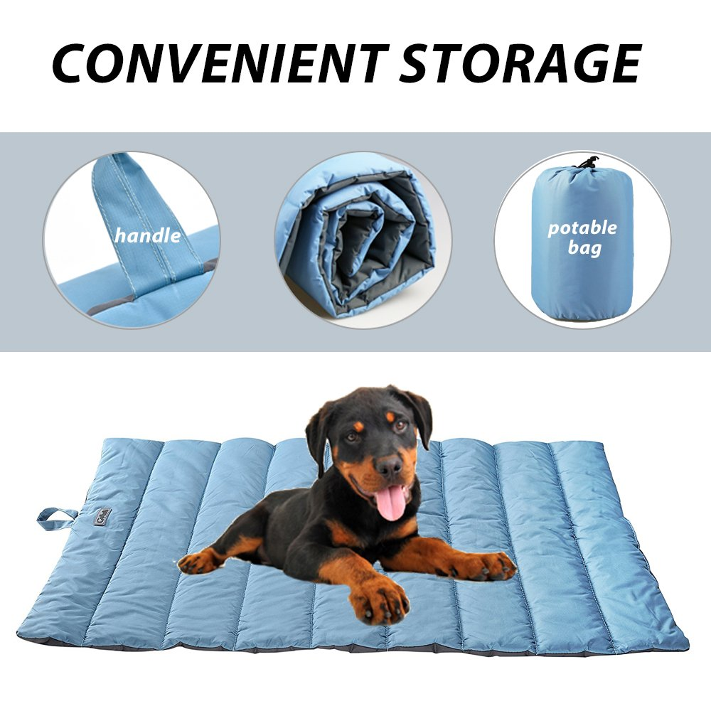 Portable Waterproof Soft Dog Mat for Dog Bed Couch Cushions Indoor or Outdoor Dog Blanket Blue Large by furrybaby (Image #4)