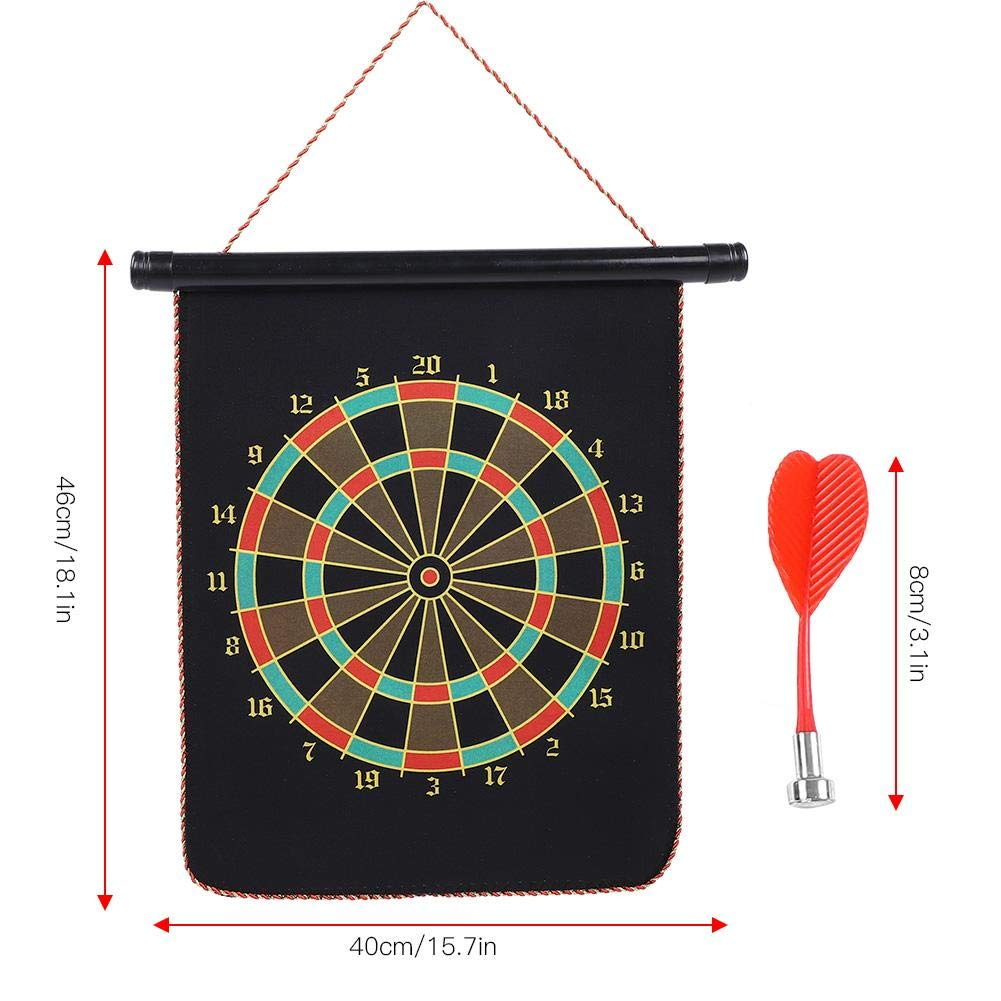 12inch Magnetic Reversible Dartboard Magnet Darts Target Toy Kids Family Leisure Sports With 4 Darts