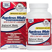 NEW VITALITY AGELESS MALE PERFORMANCE | Natural Male Enhancement for Sex Drive, Virility, and Circulation Support (60 Tablets)