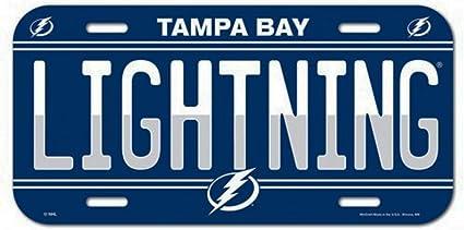 Wincraft Tampa Bay Lightning 6 x 12 Inch Plastic License Plate