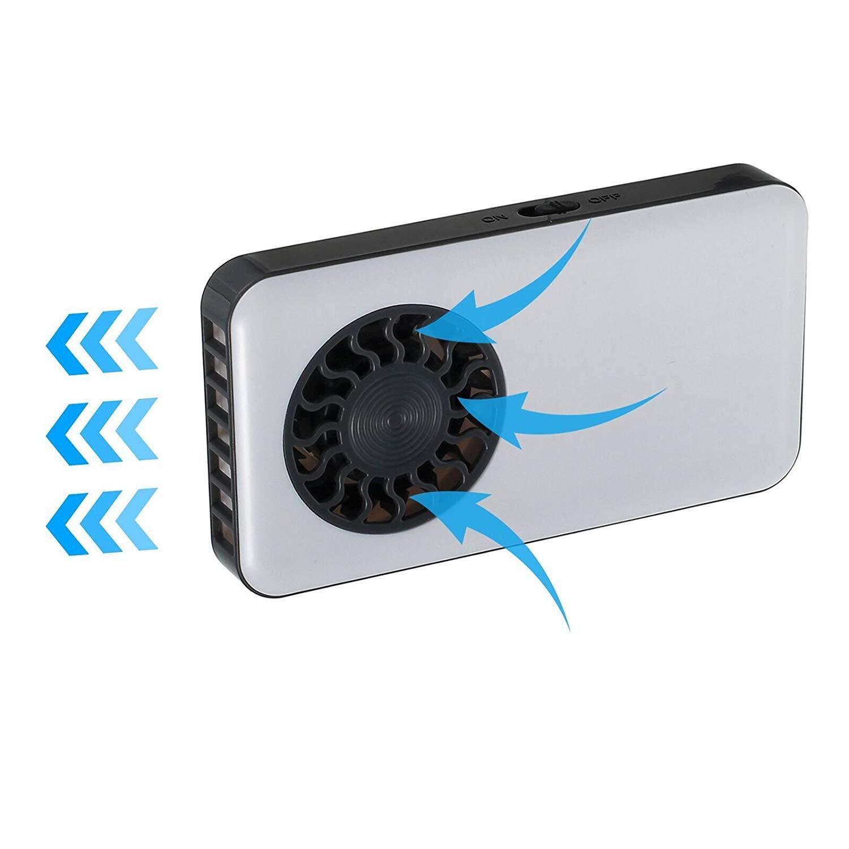 LiNKFOR Ventilador de Mano USB Recargable Bater/ía Ventilador de Bolsillo Recargable Silencioso Ventilador con USB Cable de Carga Negro