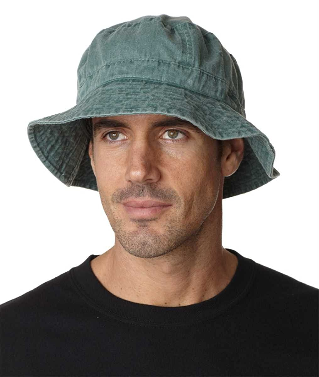 Khaki XL Adams Vacationer Pigment Dyed Twill Bucket Cap