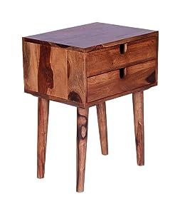 Jiya Creation Modern Style Bedside Table(Teak Wood Shade)