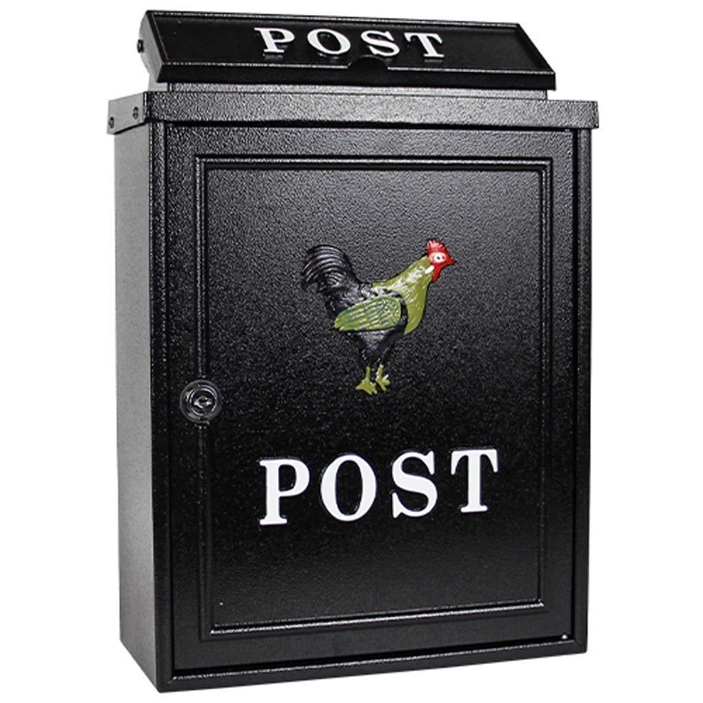 SCMAI ロックできる屋外の郵便箱/漫画の郵便ポストの手紙/郵便/壁に取り付けられた郵便箱の電流を通されたシート   B07RPFZP47