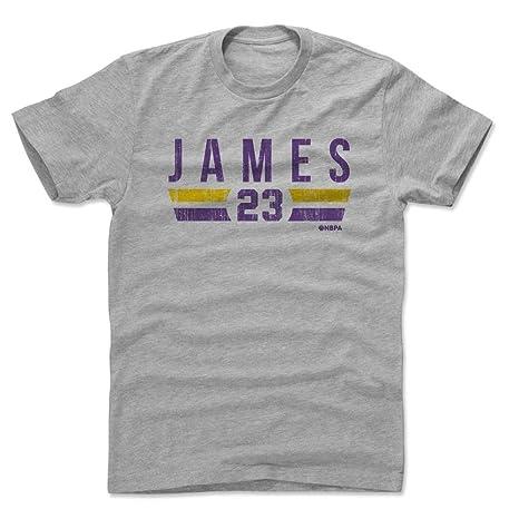 500 LEVEL LeBron James Cotton Shirt Small Heather Gray - Los Angeles  Basketball Men s Apparel - 5cccd129b