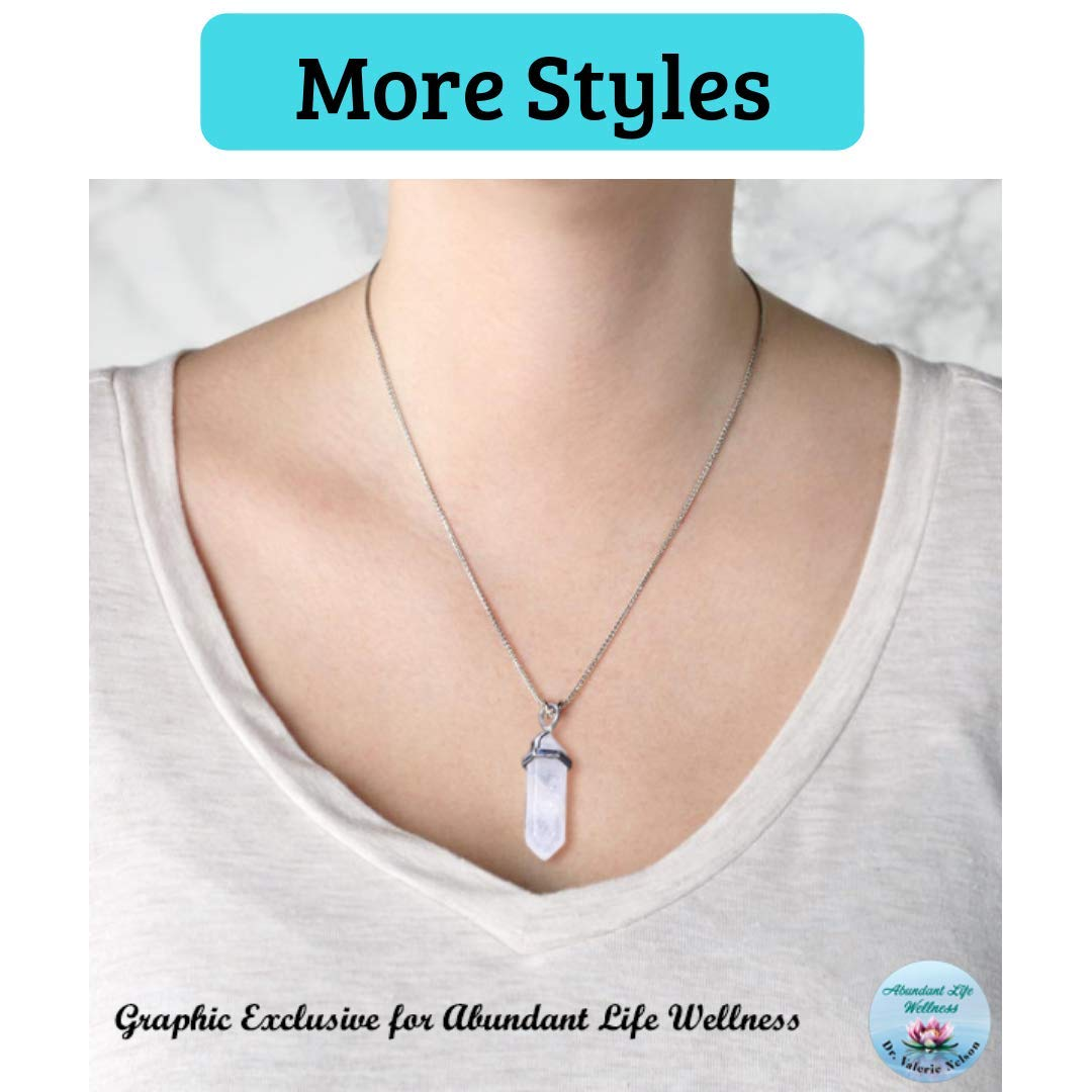 EMF Protection Pendant Necklace - Anti-Radiation - Programmed with 30+ Homeopathic Frequencies - Multiple Styles - EMF Shield Necklace Jewelry by Dr. Valerie Nelson by Dr. Valerie Nelson