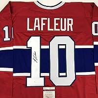 $174 » Autographed/Signed Guy LaFleur Montreal Red Hockey Jersey JSA COA