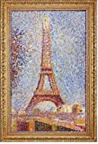 """18.05"""" x 27.05"""" Georges Seurat The Eiffel Tower framed premium canvas print reproduced to meet museum quality standards. Our Museum quality canvas prints are produced using high-precision print technology for a more accurate reproduction printed on h..."""