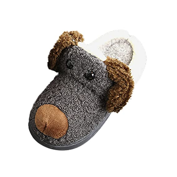 YanHoo Zapatos para niños Zapatillas Animales Infantiles hogar cálido Zapatillas Medio deslizantes Niños pequeños Niños Felpa Zapatillas Suaves ...