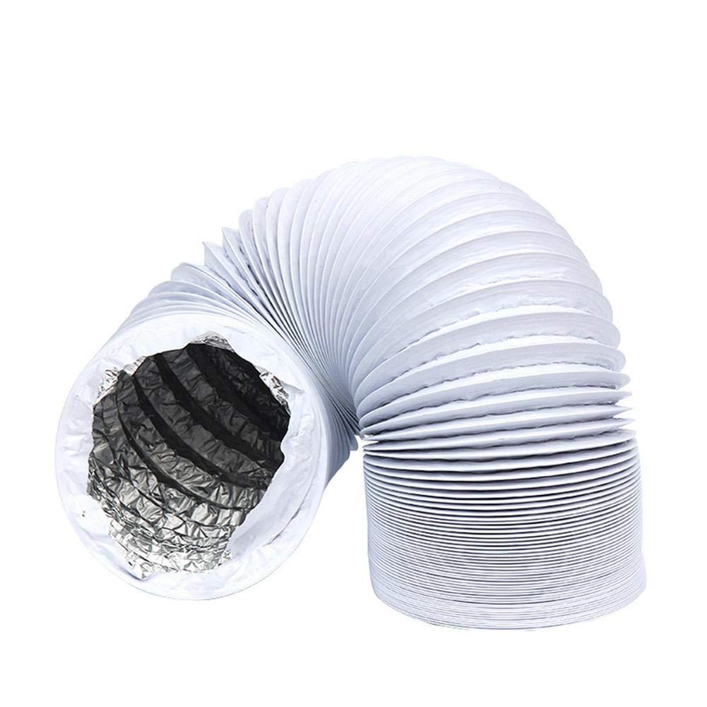 Persiverney Conducto de aire de 3 pulgadas cocina appealing 6 metros // 16 pies de largo cuartos de secado manguera de aire de ventilaci/ón HVAC de conducto flexible negro para carpas de cultivo