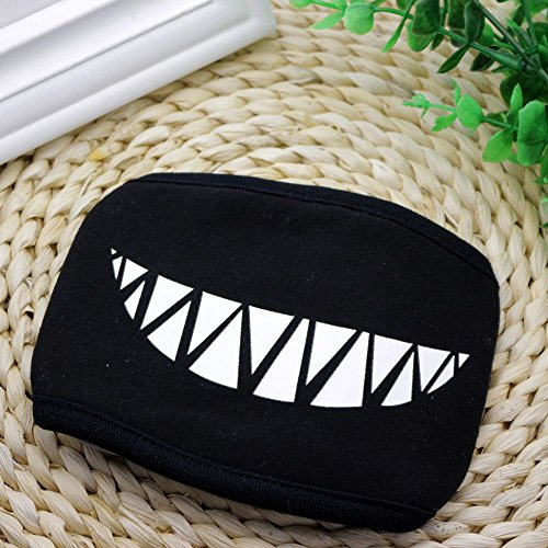 GOOTRADES Set of Teeth Pattern Unisex Blend Anti Dust Face Mouth