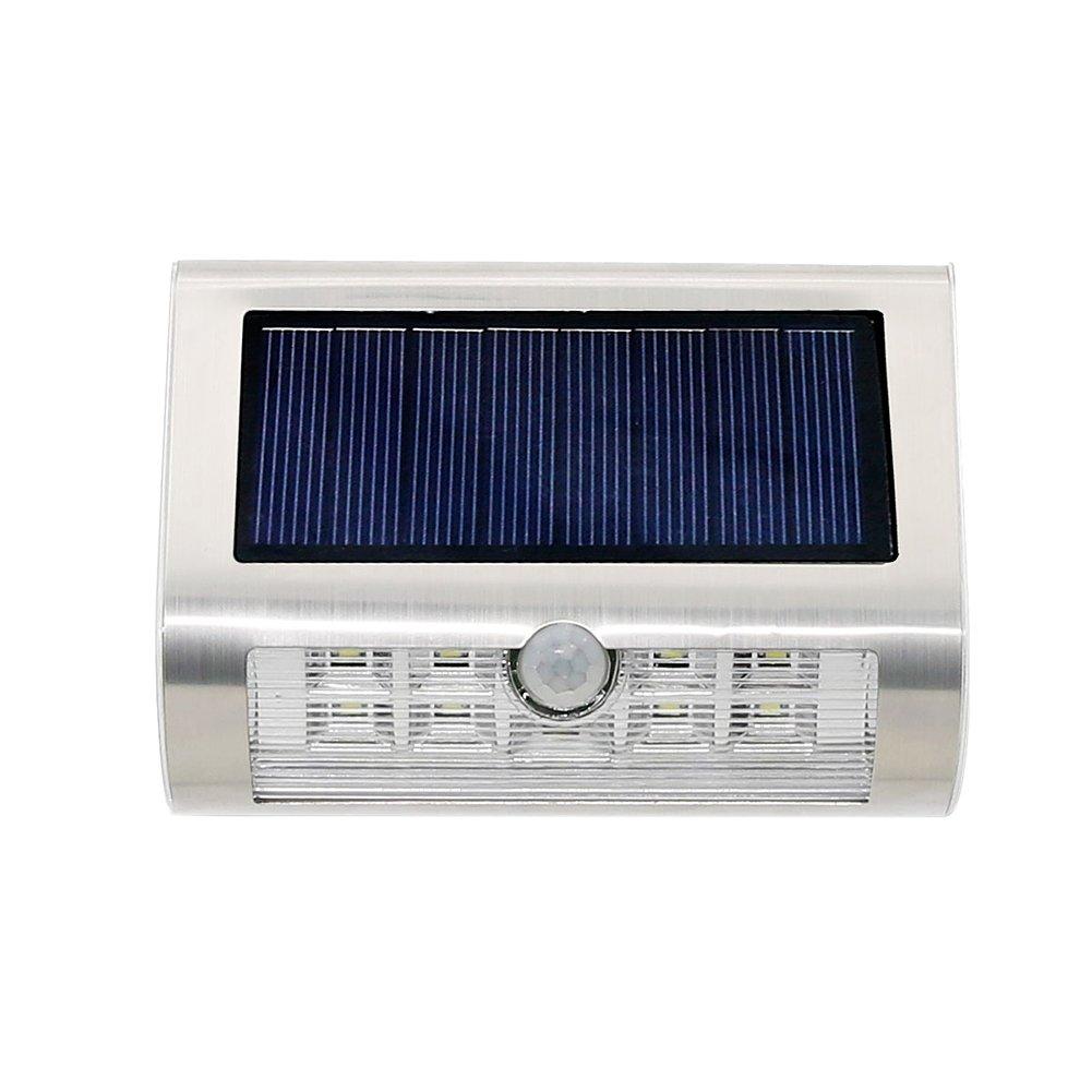 Matefield Stainless Steel Solar Power PIR Motion Sensor Wall Light Garden Lamp