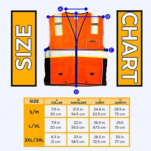 KwikSafety CLASSIC Safety Vest | Class 2 ANSI OSHA PPE | High Visibility Reflective Stripes, Heavy Duty Mesh with Pockets and Zipper | Hi-Vis Construction Work Hi-Vis Surveyor | Orange S/M by KwikSafety (Image #7)