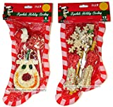 Lot of 2 Rawhide Stocking for Dogs (6 Treats/stocking) x 2 Stockings May Vary Review