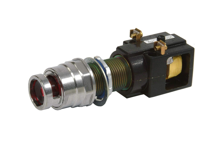 Transformer Type Incandescent Lamp Red Siemens 51PC5G2LB Hazardous Location Indicator Light 120V With 6V 755 Type Lamp Long Bushing Glass Lens