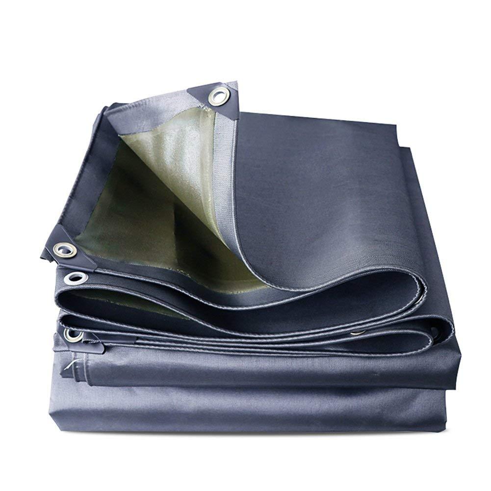 19-yiruculture 屋外テント厚い屋外キャンバス防水防水日焼け止めテント布防水シート蒸気トラック日除け布キャノピー断熱材耐摩耗性 (Color : Grey, サイズ : 5x6M) 5x6M Grey B07QPF7ZBK