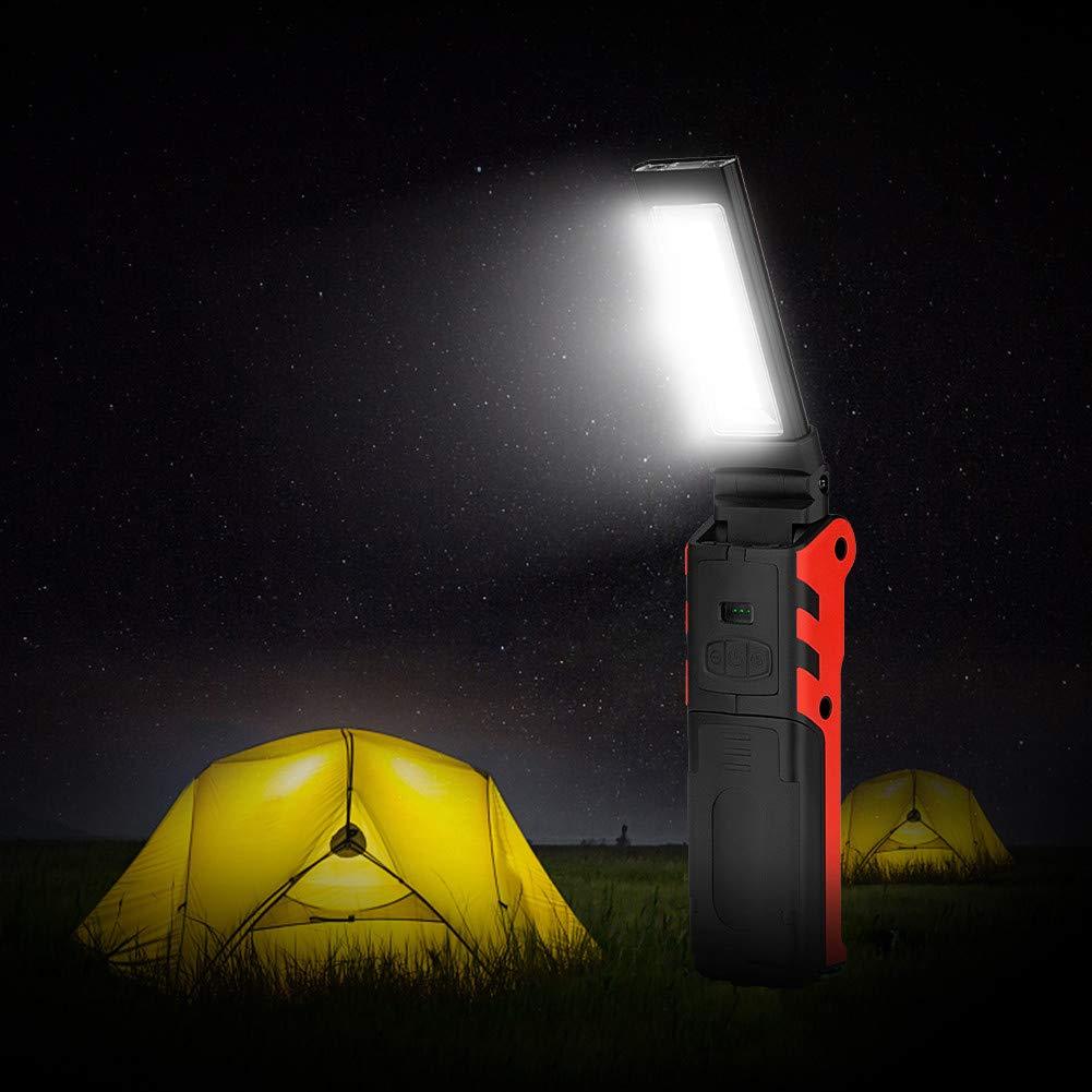 camping durgence COB Torche Lampe de Poche,LED Lampe dinspection avec Base magn/étique Pour Camping Lampe pour Garage AeeYui Lampe de Travail USB Rechargeable Lampe