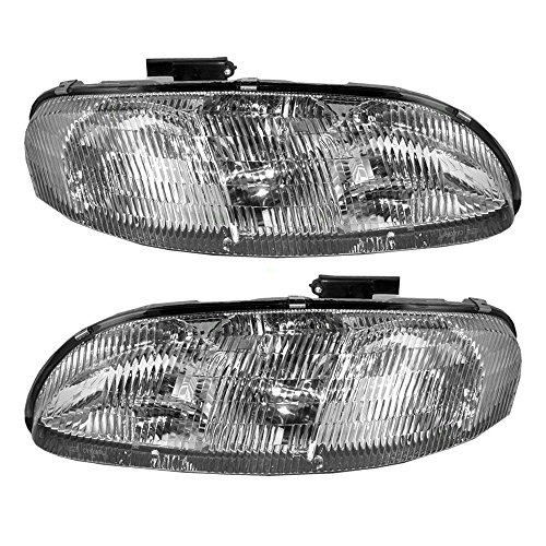 (Headlights Headlamps Driver and Passenger Replacements for 95-01 Chevrolet Lumina & 95-99 Monte Carlo 10420375 10420376 )