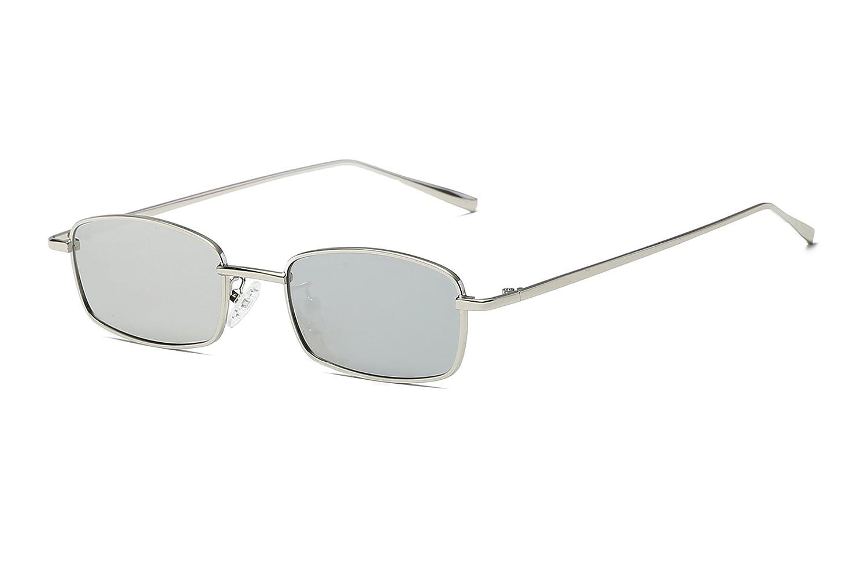 FEISEDY Classico Sottile Occhiali da sole Rettangolari Retro Piccolo Metallo Telaio Colore Della Caramella B2295